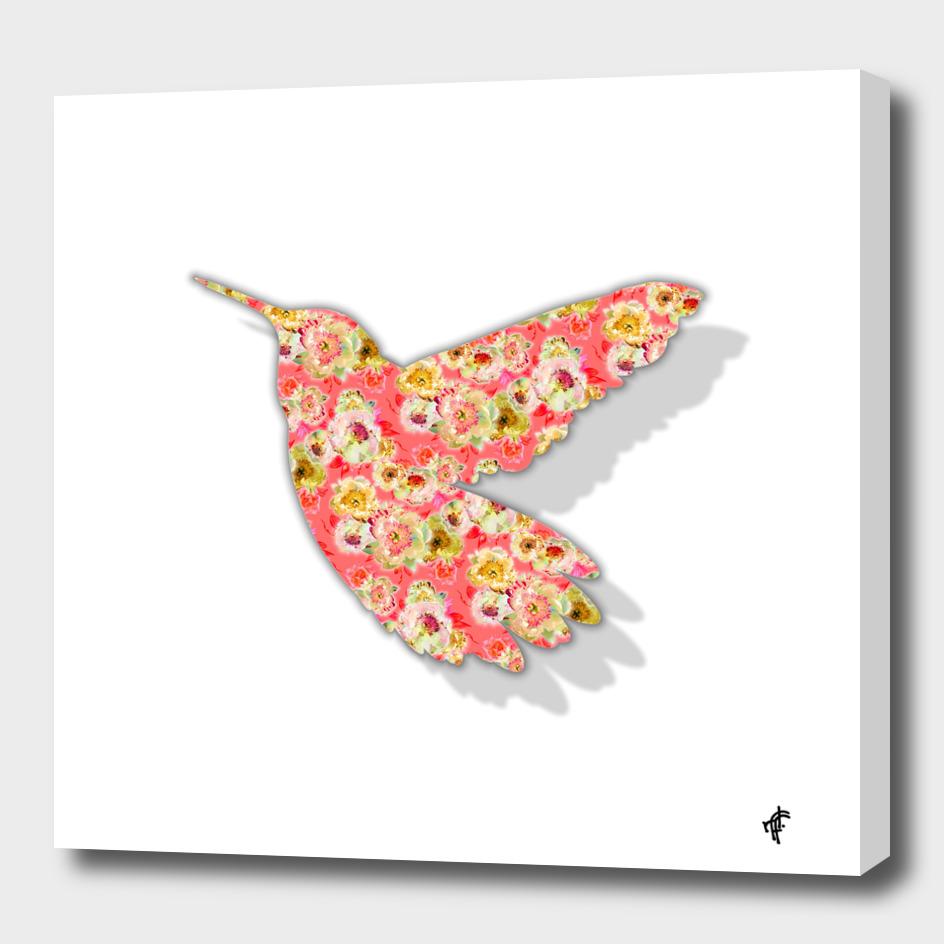 Hummingbird in Fancy Florals