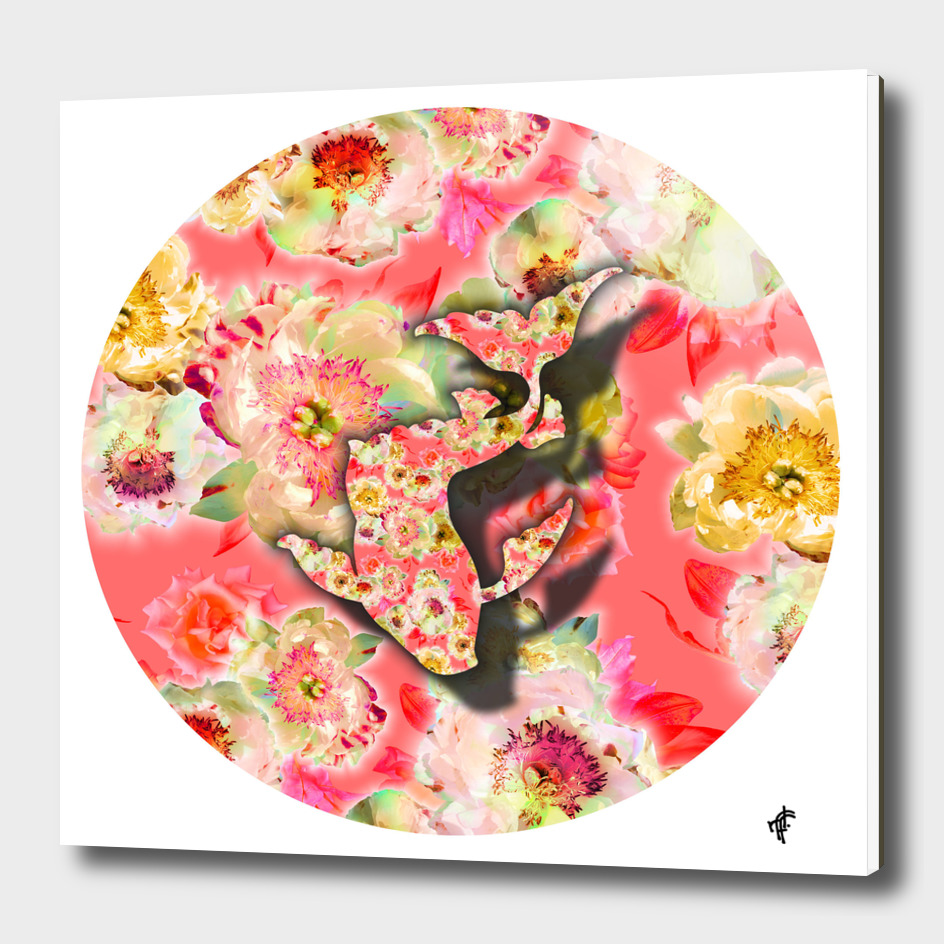 Koi Fish on Fancy Florals