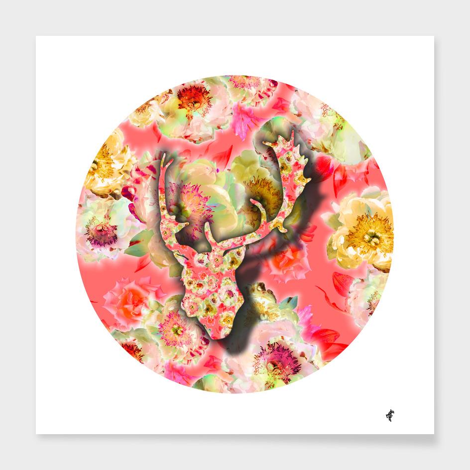Deer on Fancy Florals