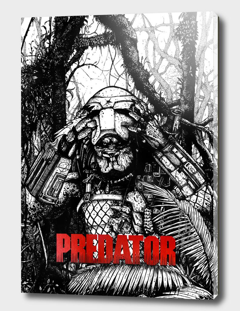 Predator-black-and-White