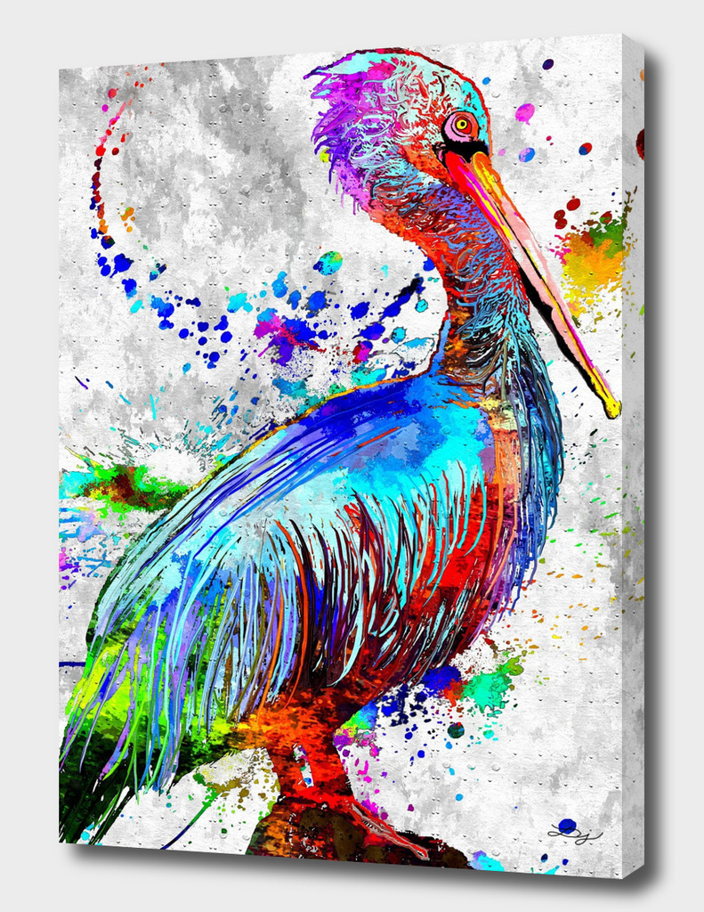 Pelican Water Bird Grunge