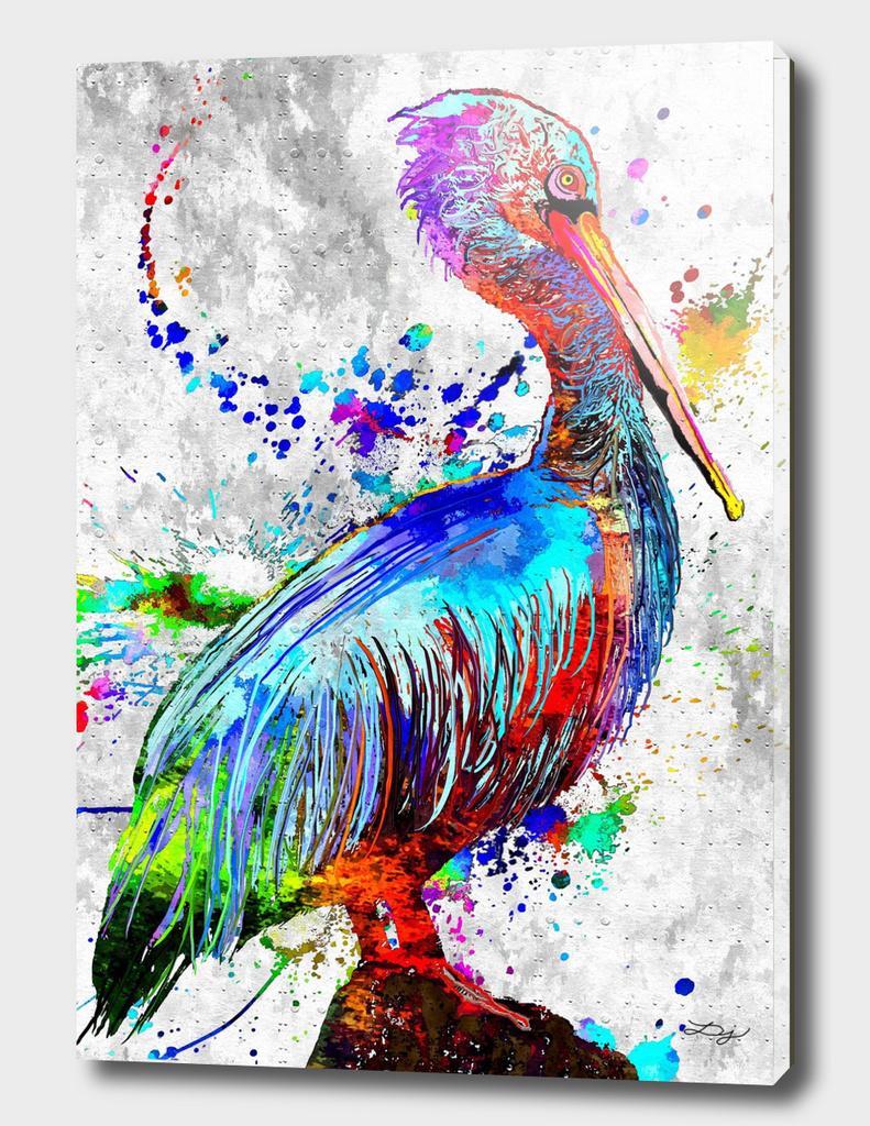 Pelican Water Bird Grunge