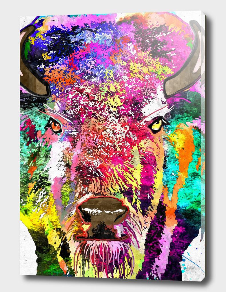 Buffalo  The American Bison Grunge