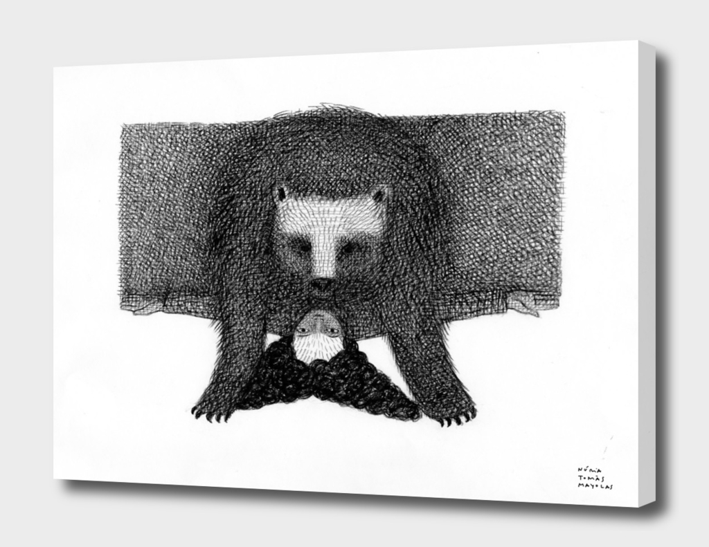 Bear and a girl