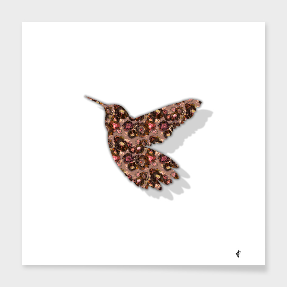 Hummingbird in Floral Eve