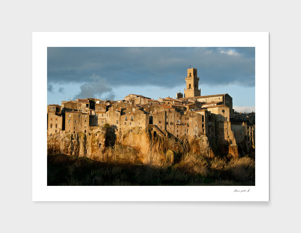 view of Pitigliano in Tuscany