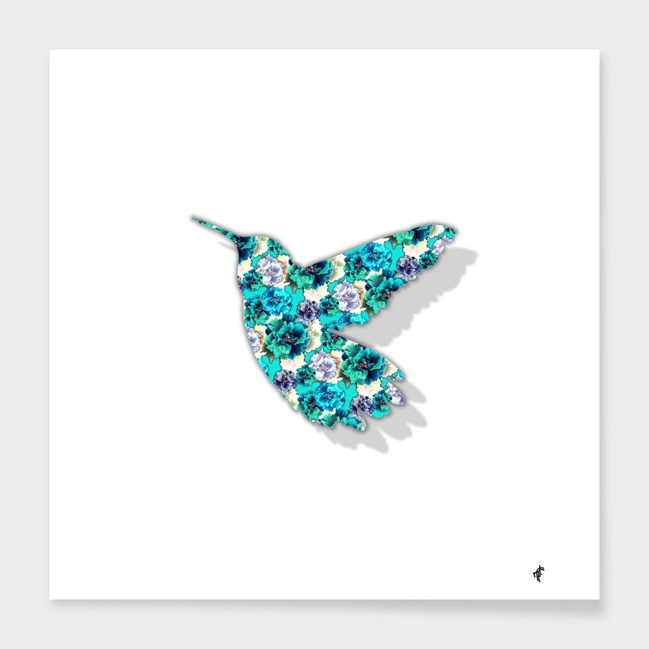 Hummingbird in Peony Party