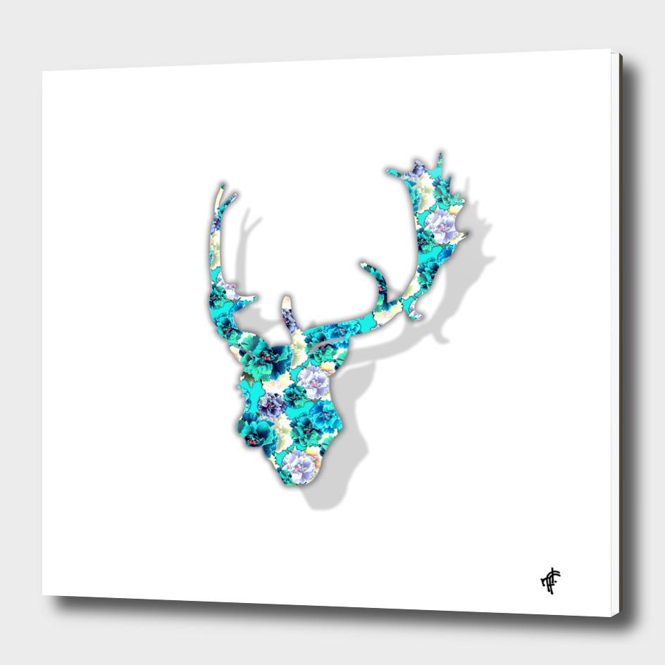 Deer in Peony Party