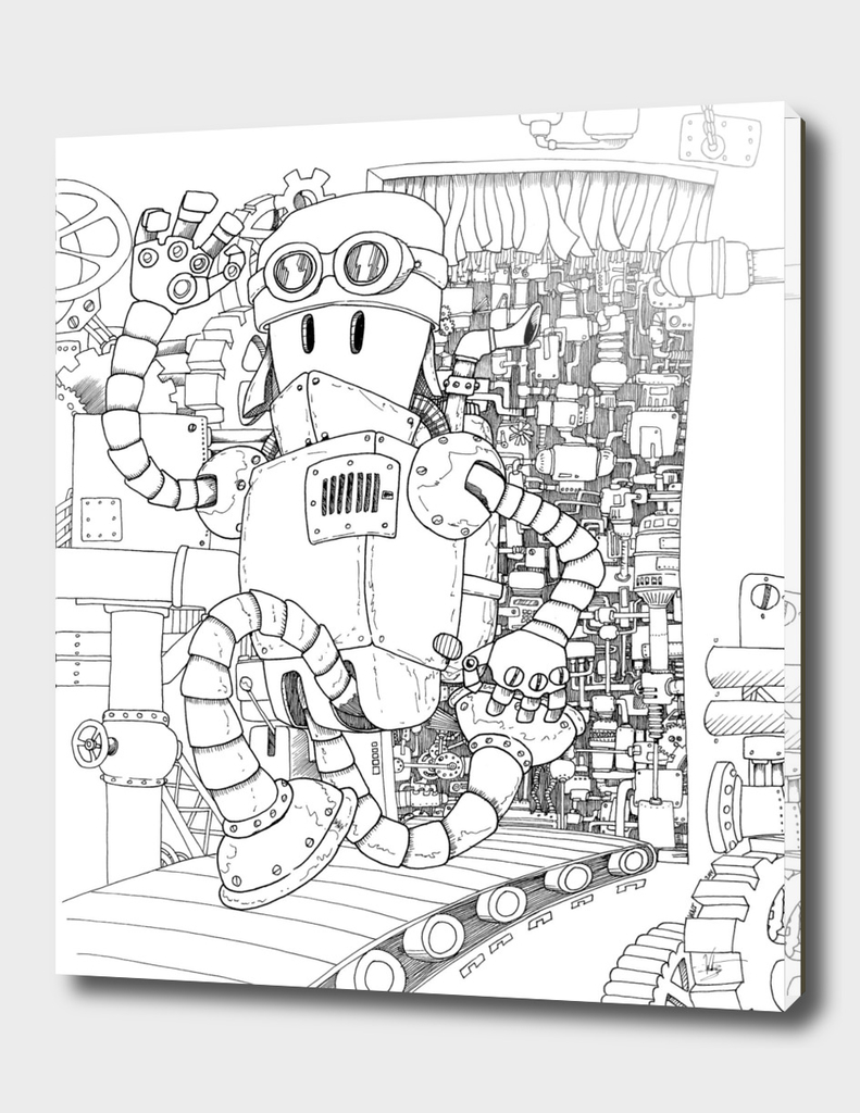 Steampunk doodle bot