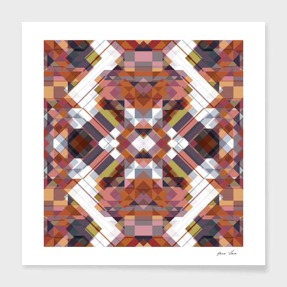 Geometric squared art deco graphic