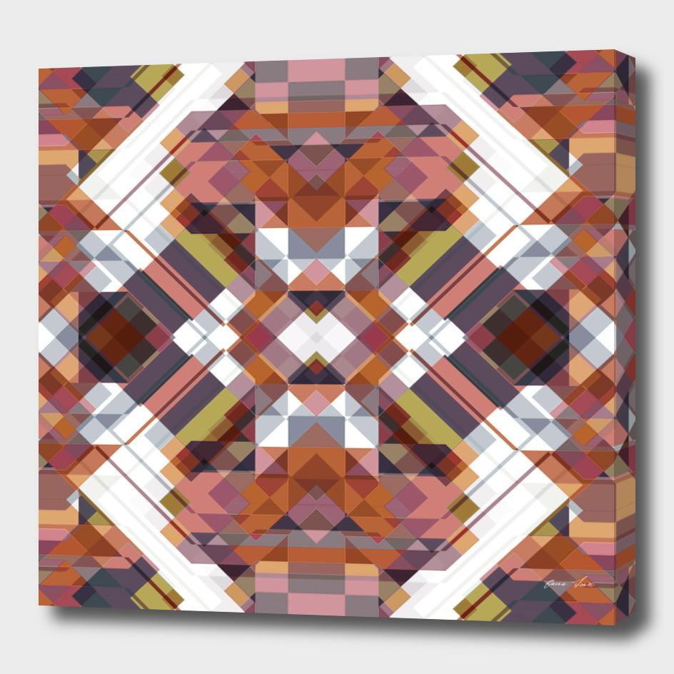 Geometric squared art deco graphic