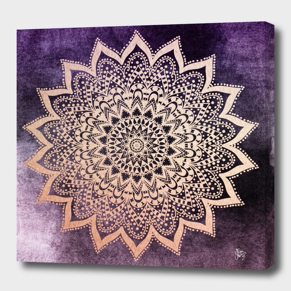 BOHO NIGHTS MANDALA in purple