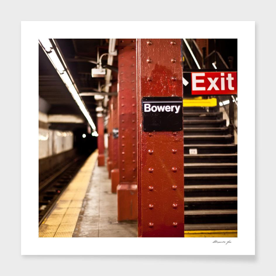 Bowery Subway Station