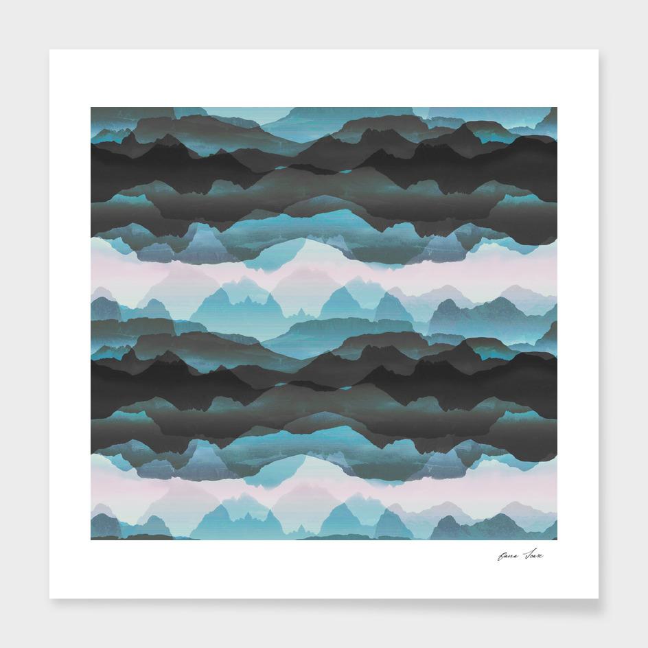 Transparent blue hills