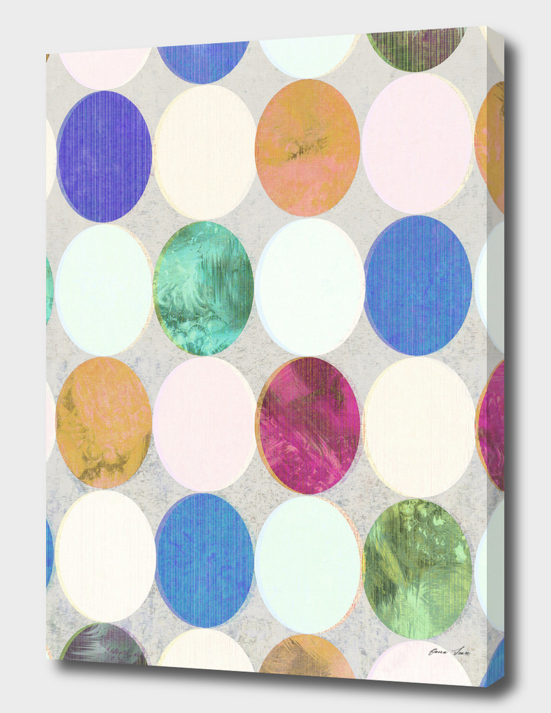 Textured Colourful Polka Dots