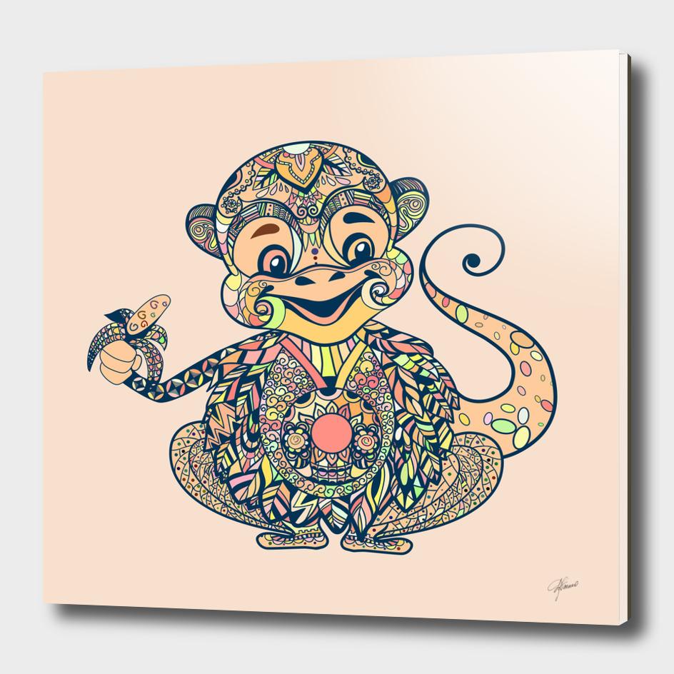 Monkey zentangl