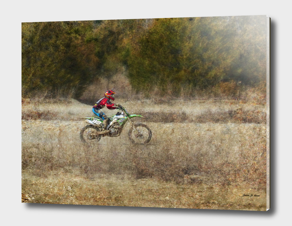 Dirt Bike riding at St Joes Park