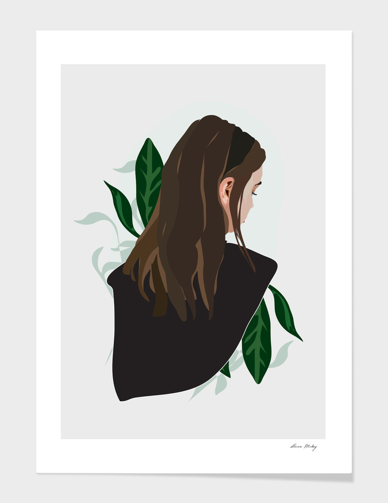 Girl and Plants