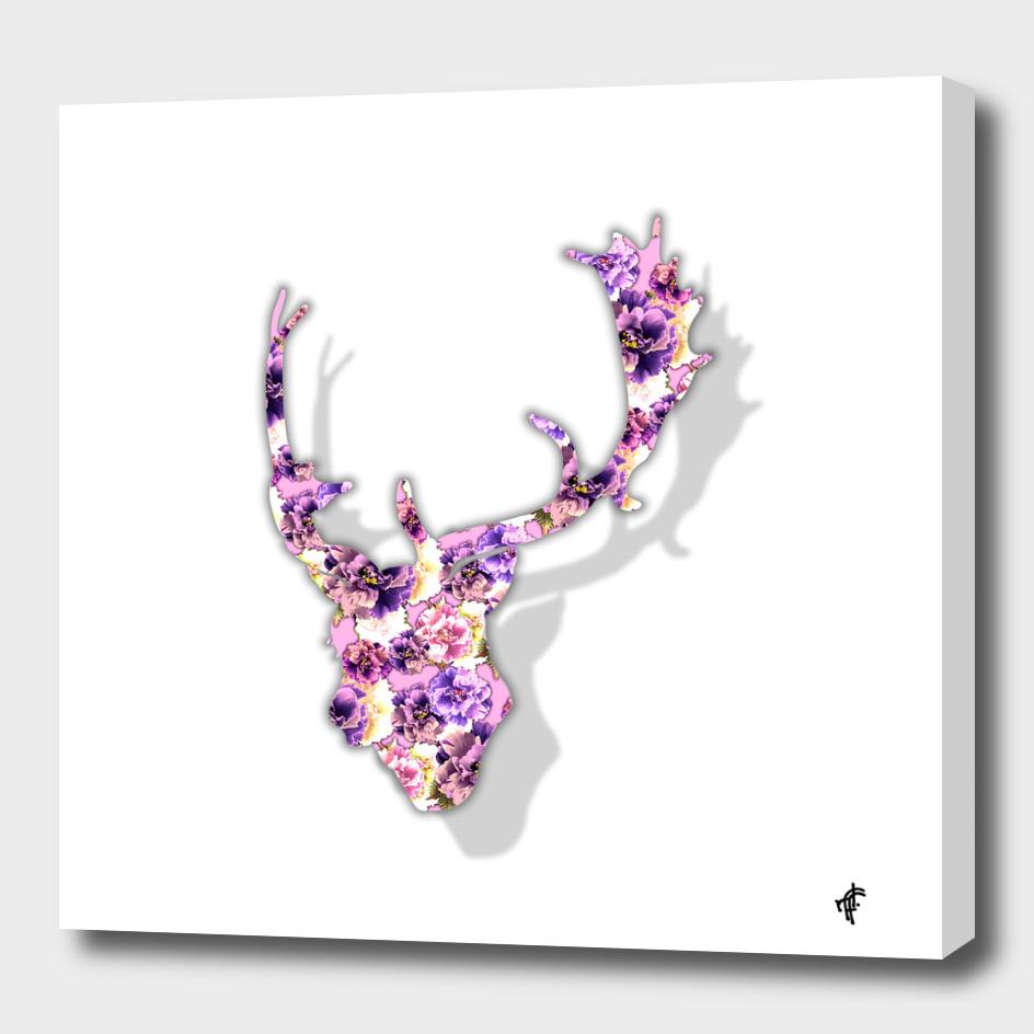 Deer in Purple Peony