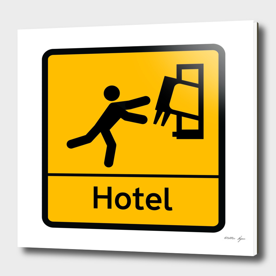 STICKMAN Hotel Sign