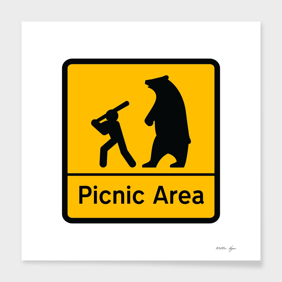 STICKMAN Picnic Sign
