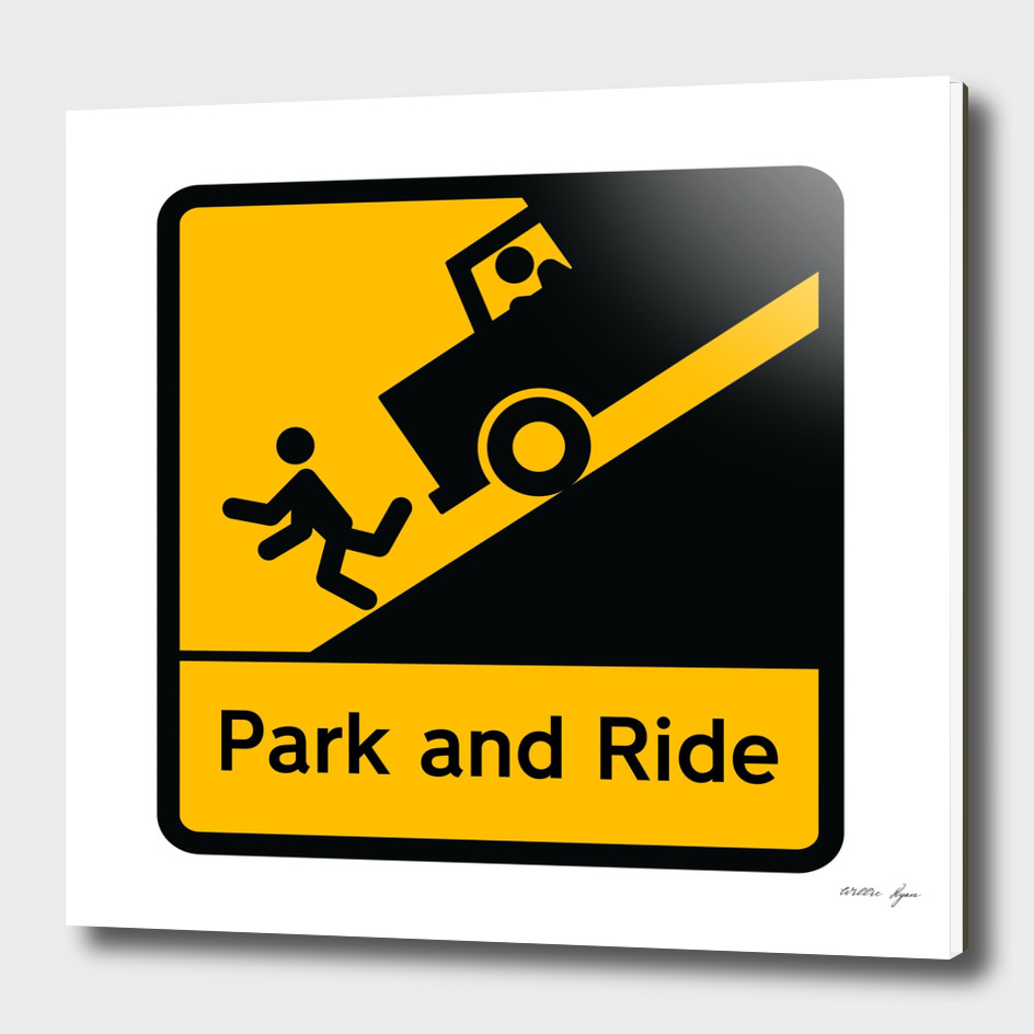 STICKMAN Parking Sign