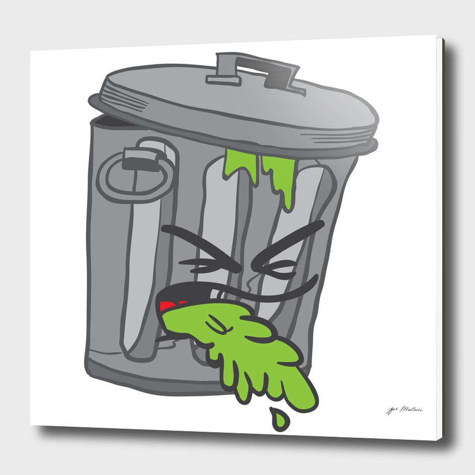 garbage can puke