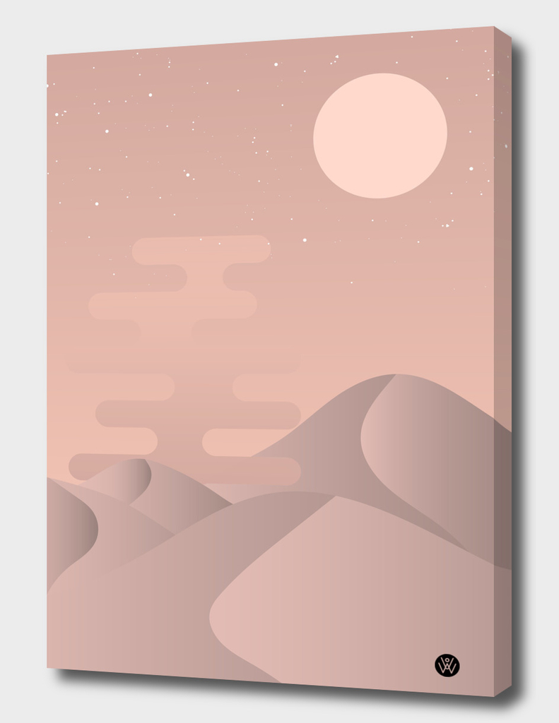 Rose gold desert