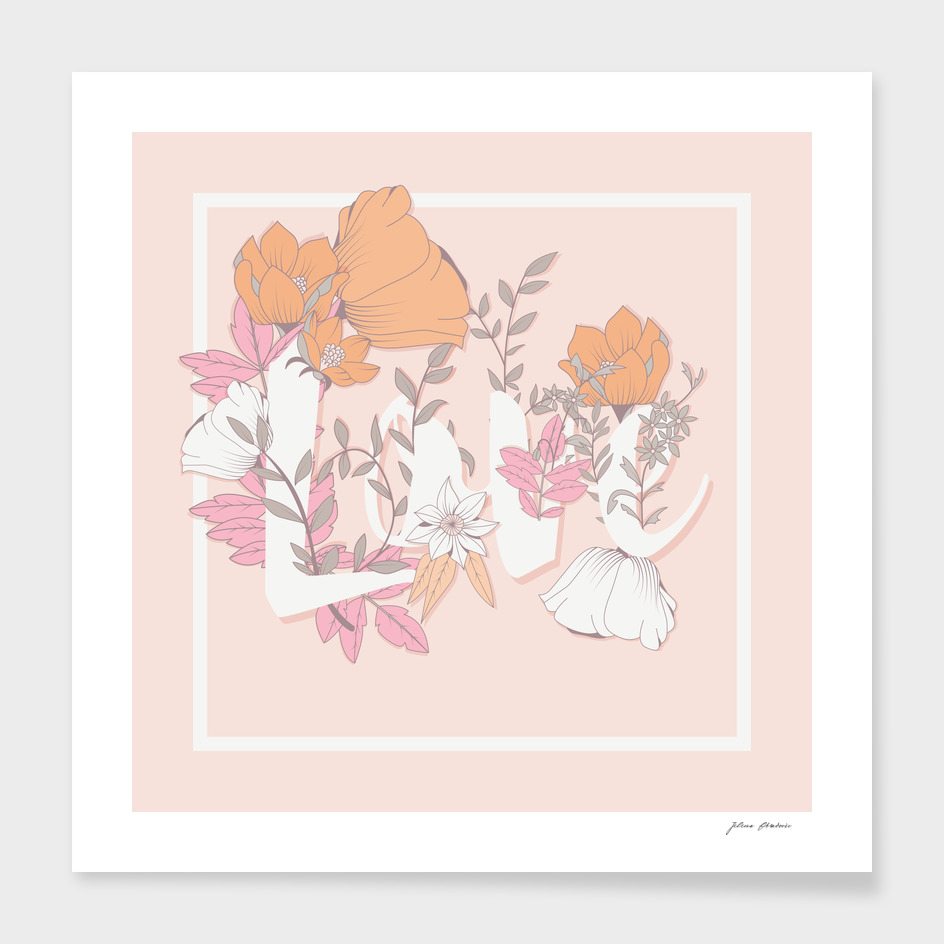 Flower Typography Love 002
