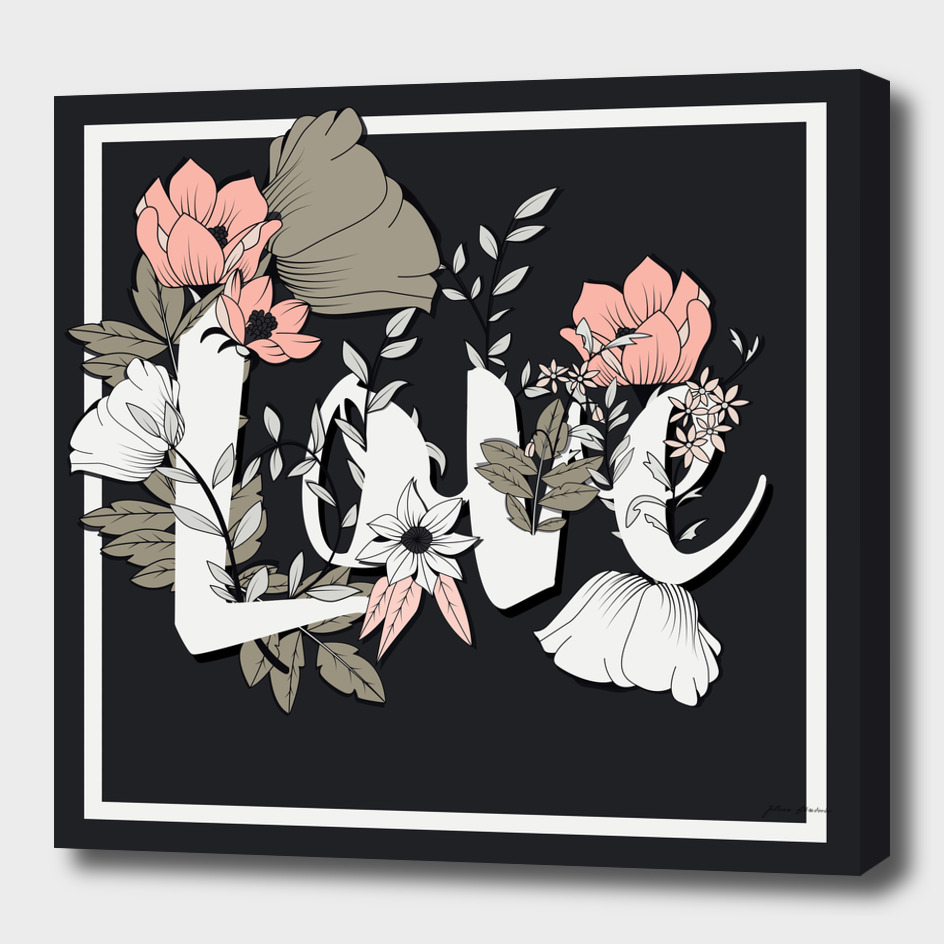 Flower Typography Love 003