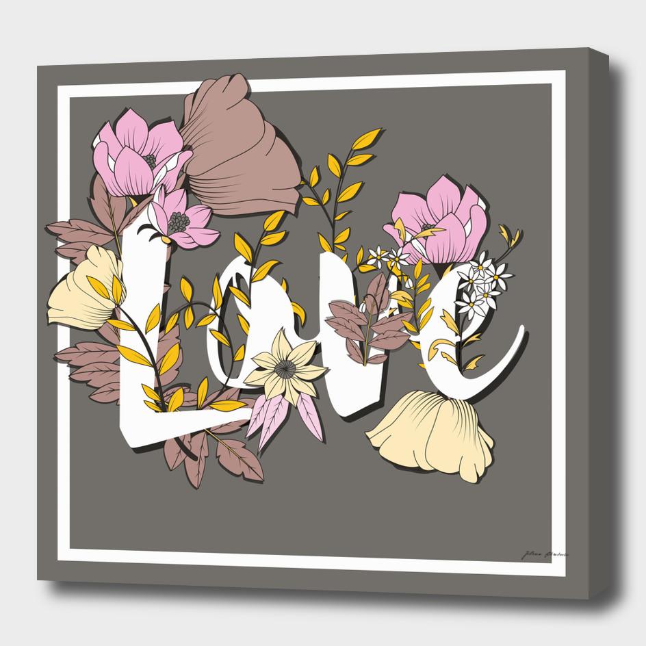 Flower Typography Love 004
