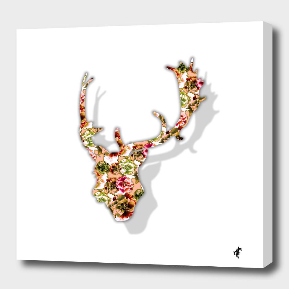 Deer in Floral Retro
