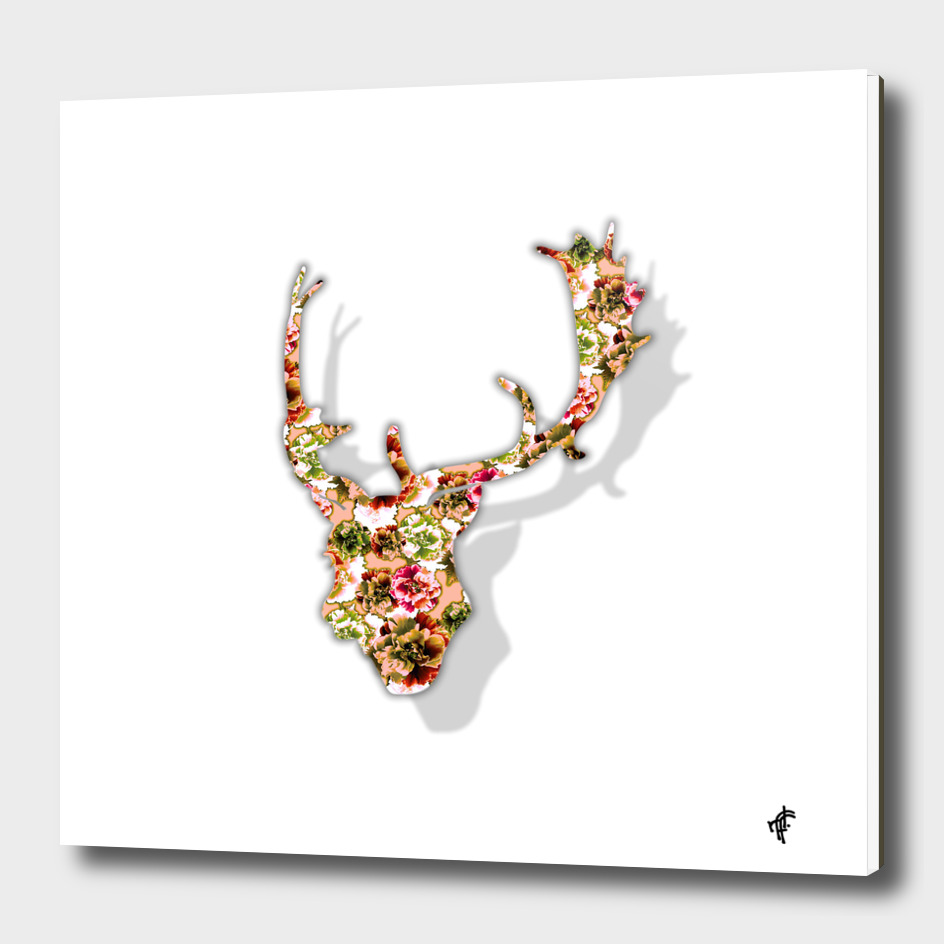Deer in Floral Retro