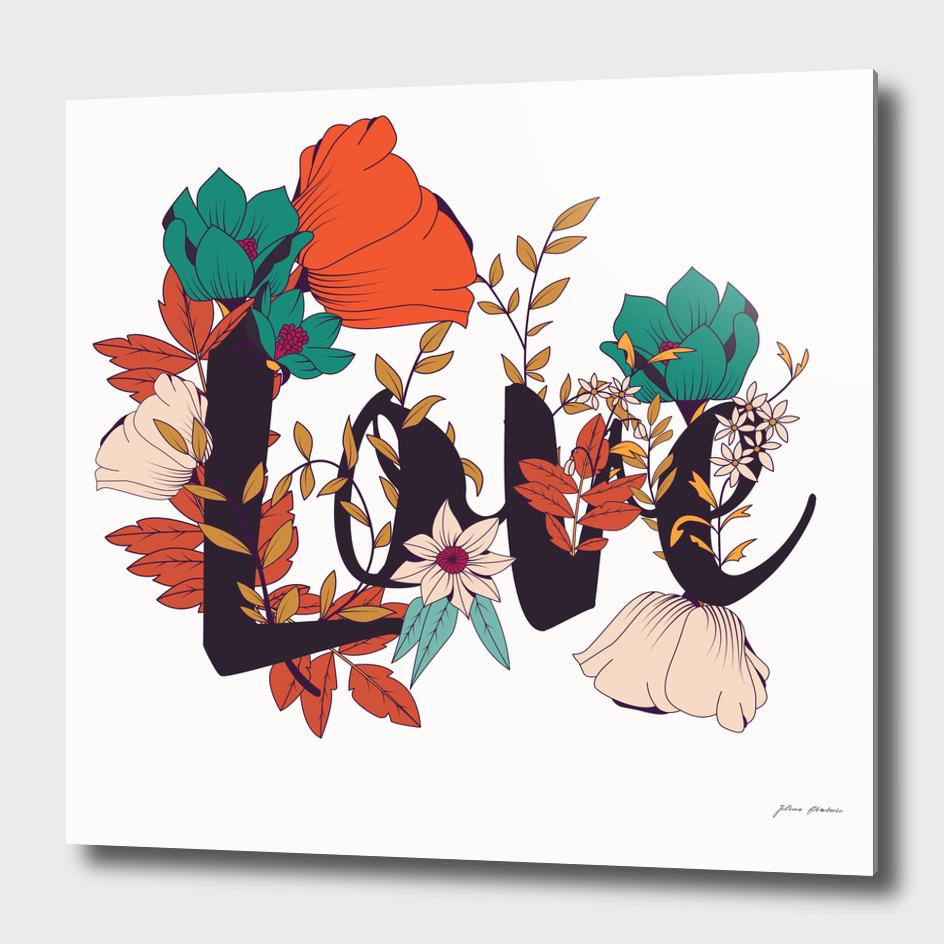 Flower Typography Love 005