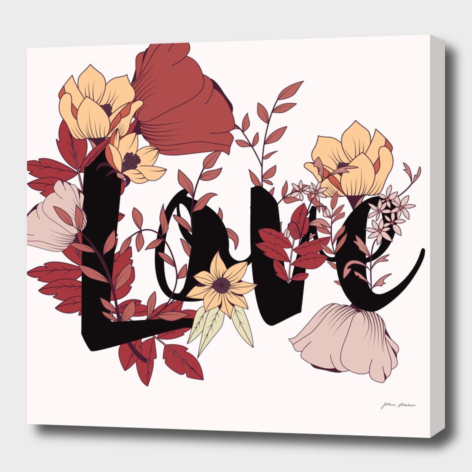 Flower Typography Love 006