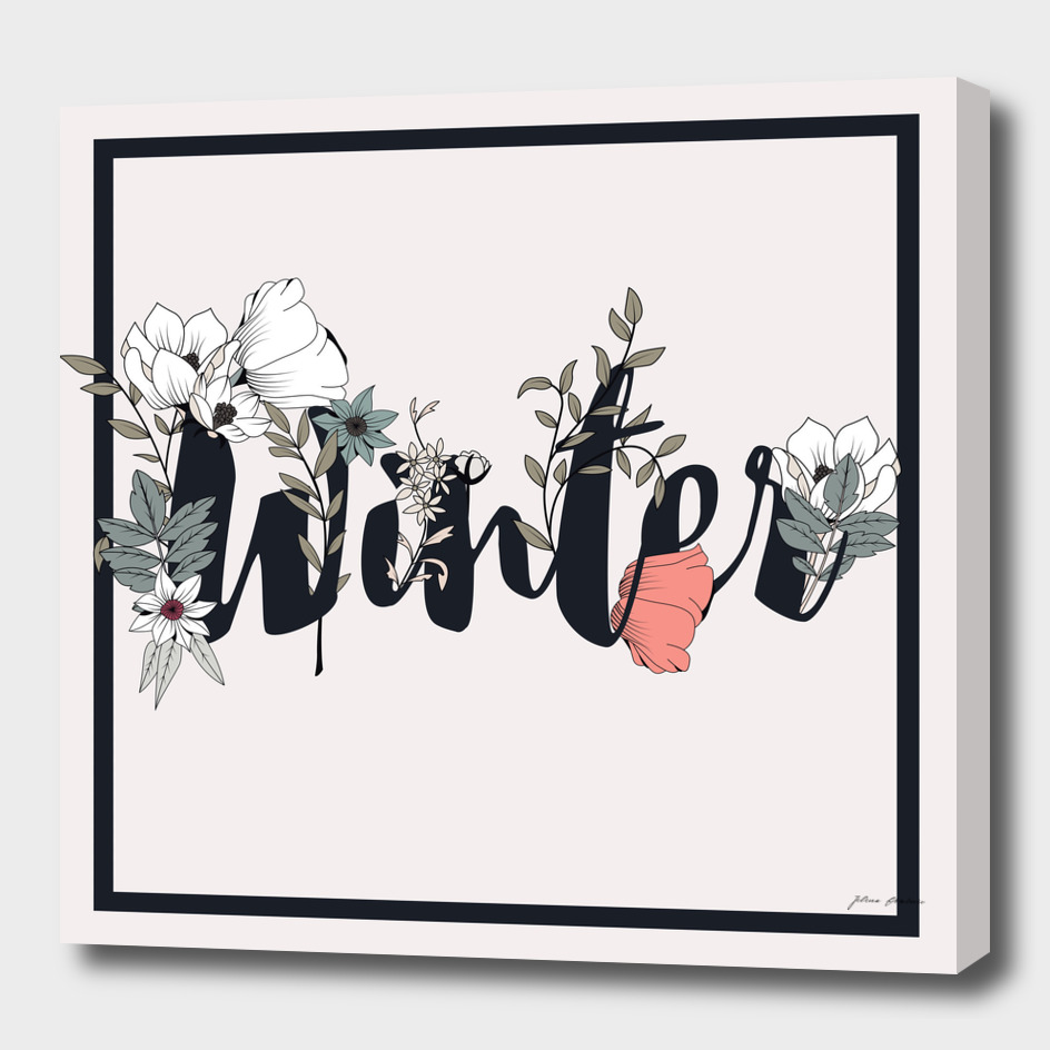 Flower Typography Winter 001