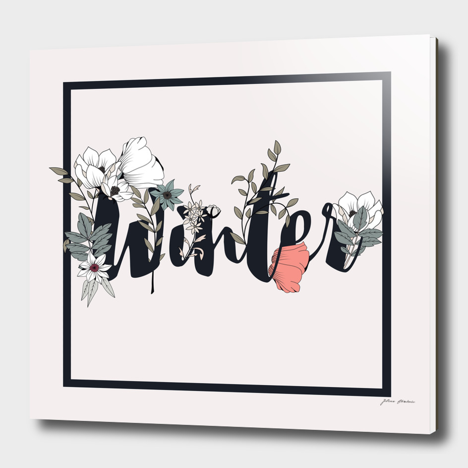 Flower Typography Winter 001