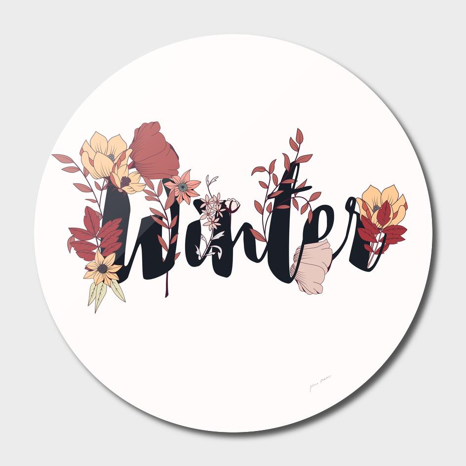 Flower Typography Winter 002