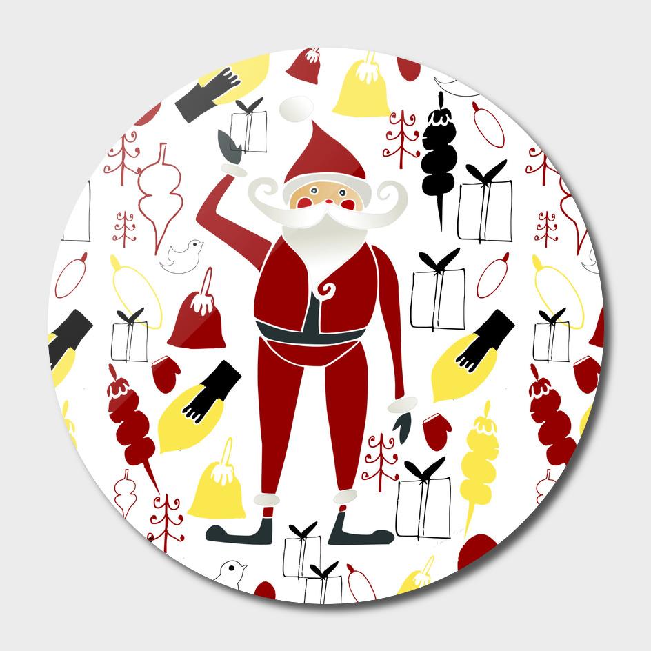 Santa modern christmas
