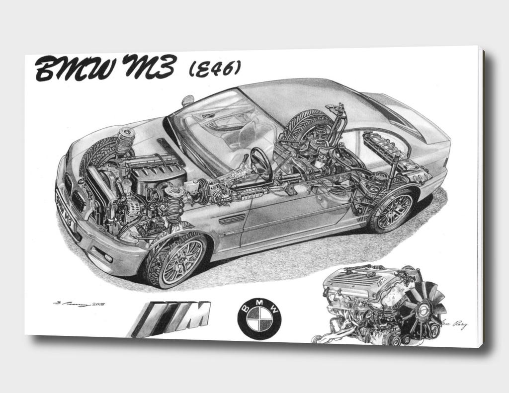 BMW M3 e46 CUTAWAY