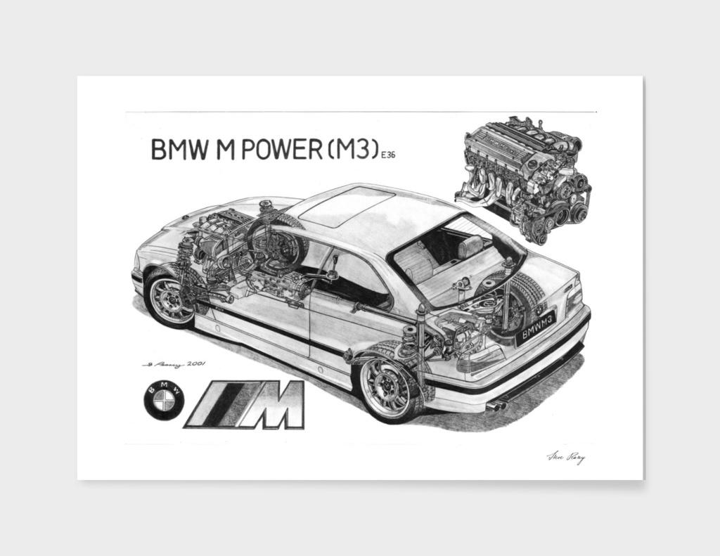 BMW M3 e36 CUTAWAY