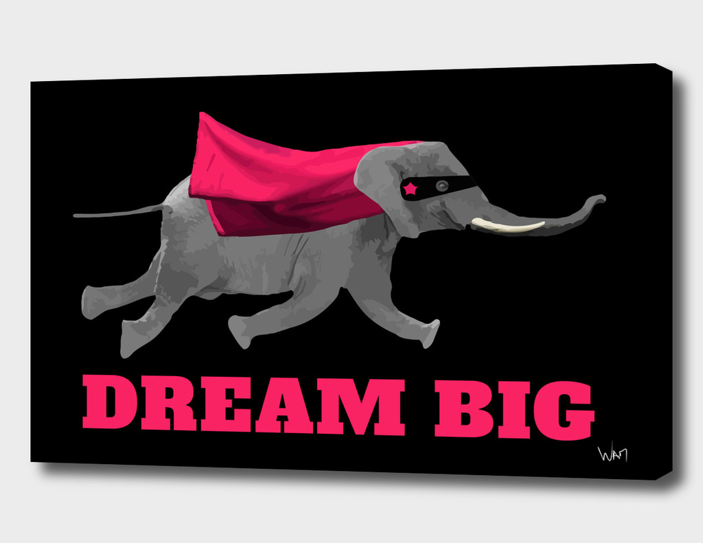 Dream big Flying elephant