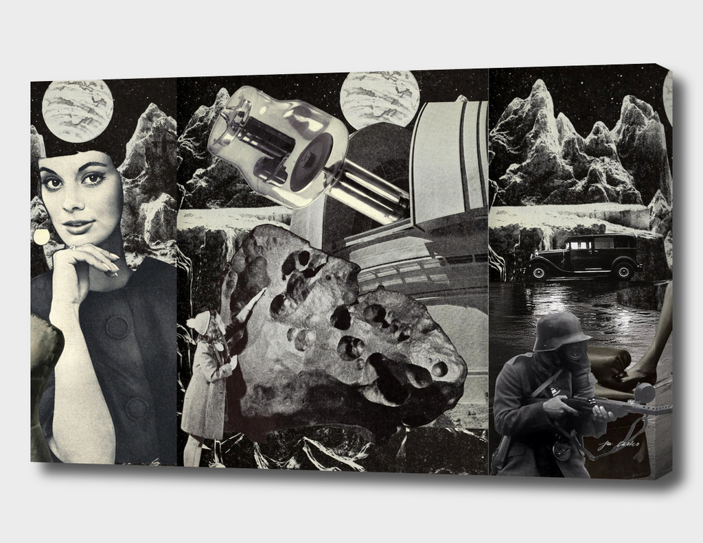 Moona Lisa Triptych