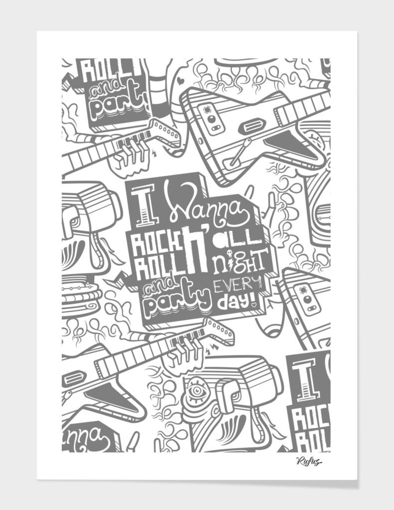 I Wanna Rock N' Roll All Night (Pattern Version)