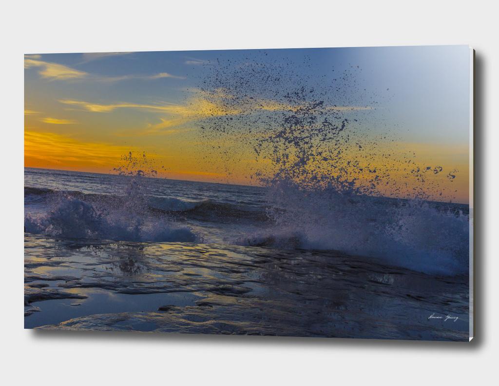 ocean Beach Cliffs Sunset