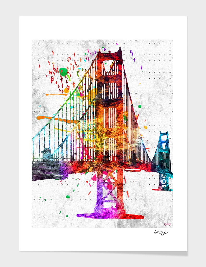 Golden Gate Bridge Grunge