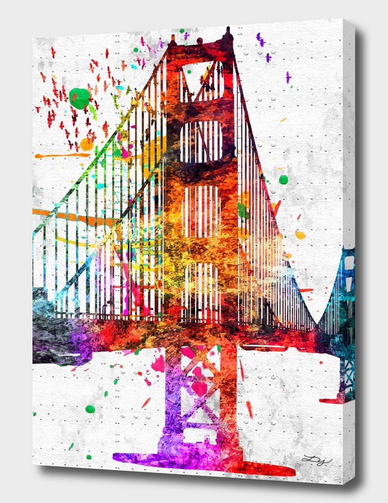 Golden Gate Bridge Grunge