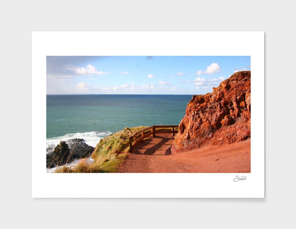 red irish coast