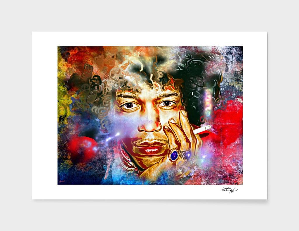 Jimi Hendrix Painted