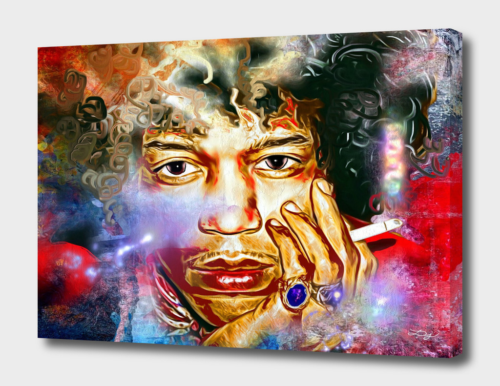 Jimi Hendrix Painted